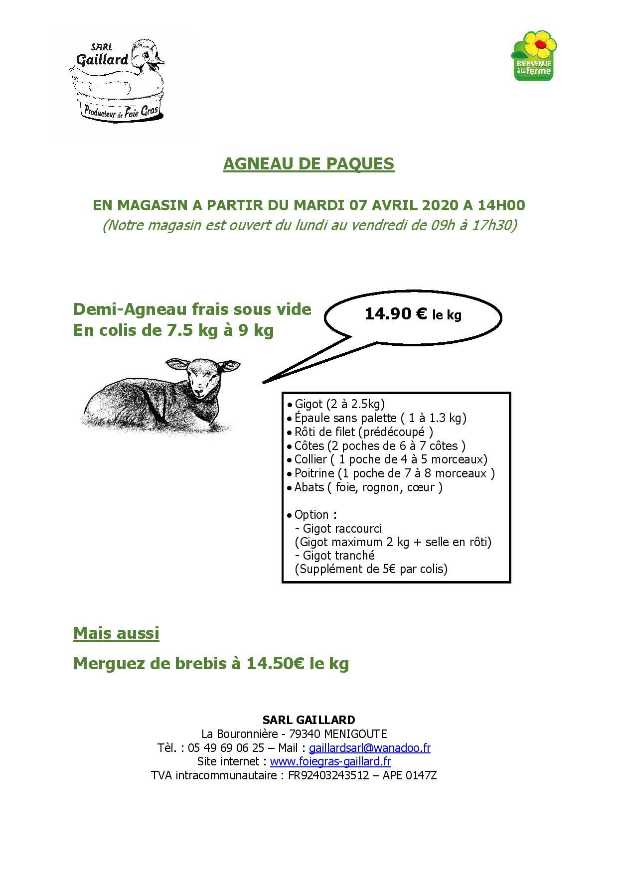 AGNEAU DE PAQUES